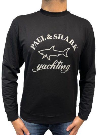 PAUL&SHARK – סווטשירט ארוך בצבע שחור דגם PAUL&SHARK T-SHIRT